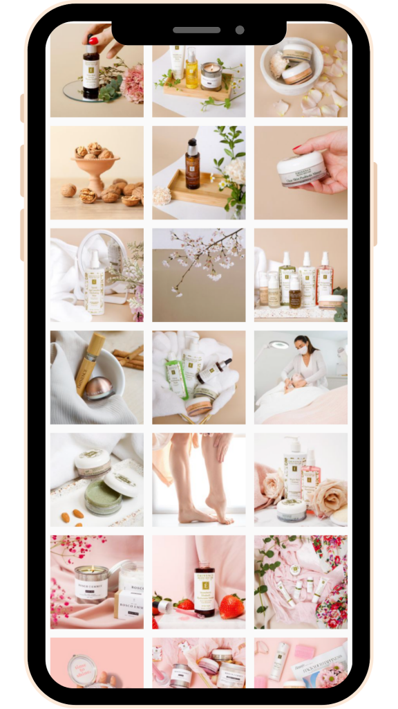 The Facial Room Instagram Feed - Social Media Management Vancouver