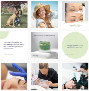 Halcyon Cosmetic Instagram Feed - Legendary Social Media Vancouver